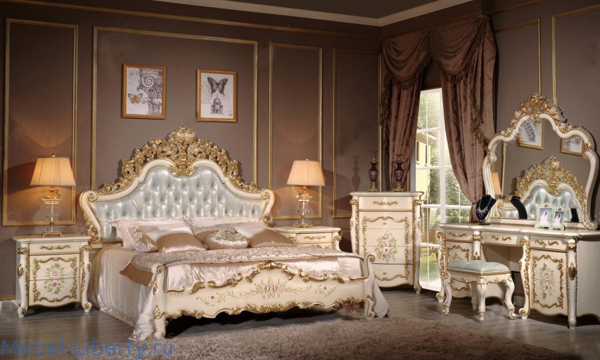 Fanbel спальня классикабежевый мебель либерти италии и испании
