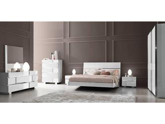 Белая глянцевая мебель для спальни